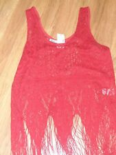 womens lace tank top w/ fringe western blouse shirt ~ small  ~ Maurices
