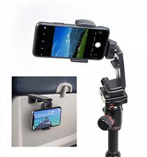Travel Tripod Phone Holder For Airplane, Luggage Handle, Desktop or Selfie.