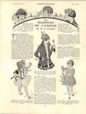 1922 Children's Fashions Roaring Twenties Ladies Hats