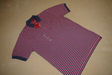 NEW NWT IZOD POLO STYLE MENS SHIRT SIZE SMALL S P SHORT SLEEVE BLUE PINK STRIPES