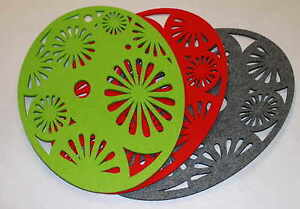 Placemats Easter Eggs Felt Table Mats Set of 2 Laser Cut Small