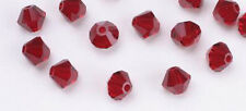 48 SIAM SWAROVSKI CRYSTAL # 5301 BICONE BEADS 4MM