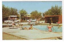 Swimming Pool Cars Valle Vista Trailer Park Hemet California postcard