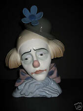 Lladro Pensive Clown 5130  mint-retired w base  Wonderful piece   #192