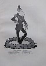 LEOPOLD VON BELGIEN AUCH EINER deutsche Karikatur um 1907 alter Druck old print