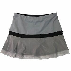 Athleta Womens Runaround Skort Skirt Gray Tulle Mesh Bottom Casual Size XS