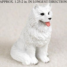 Samoyed Mini Resin Hand Painted Dog Figurine
