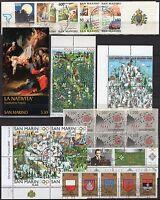 San Marino - Lotto di 25 francobolli + 2 libretti, 1962/2006 - Usati