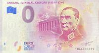 BILLET 0  EURO  ANKARA M.KEMAL ATATURK (1881-193°°) TURQUIE 2019 N° SUITE 789