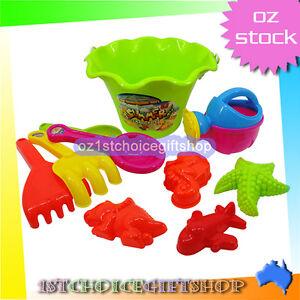 10pcs beach seaside kid bucket spade rake kit sand building molds fun toy