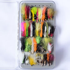 50 Assorted Stillwater Lures Streamers Trout Fly Fishing Flies size 8