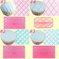 4 Styles Quilting Embosser Mold Cake Fondant Icing Cutter Decorating Tools New