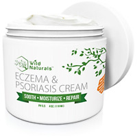 Wild Naturals Eczema & Psoriasis Cream, For Dry, Irritated Skin, Itch Relief,