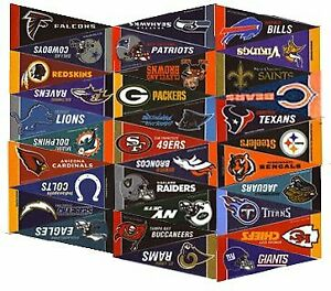 NFL Football Complete 32 Team 4x9 Mini PENNANT Banner Flag Set