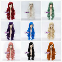 10 Colors 80CM Long Curly Basic Heat Resistant Cosplay Christmas Wig