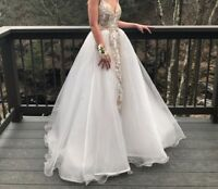 Sherri Hill Prom Dress - Size 2- Perfect Condition - White- Gold - Sherri Hill