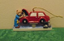 Mechanic Bear Personalized Christmas Tree Ornament Holiday Gift
