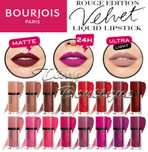 Bourjois ROUGE EDITION Velvet MATTE Lipstick 24H wear Assorted colours