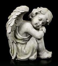 Engel Gartenfigur - Kind schlafend rechts - Fantasy Cherub Schutzengel Deko