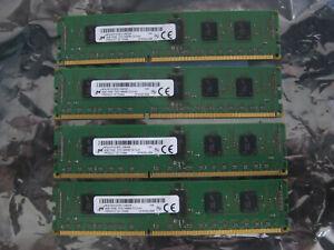 Lot 16GB (4X 4 GB) Micron 4GB PC3-14900R MT9JSF51272PZ-1G9E2HF Server Memory