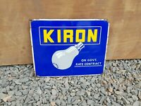 1950s Vintage Original Old Kiron On Govt. Contract Lamps Bulb Enamel Sign Board