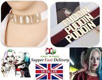 UK Cosplay Batman Suicide Squad Harley Quinn Puddin Leather CollarNecklace JJ77
