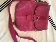Lot Coach Pink Leather Crossbody Swingpack Legacy Purse