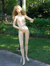 VINTAGE LADY MANNEQUIN WITH WIG AND STAND