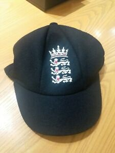 England 3 lion wool test cricket cap with embroided logo