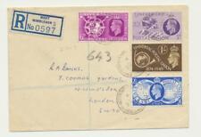 GB 1949 UPU SET ON REG COVER, WIMBLEDON CDS (SEE BELOW)