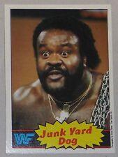 Junkyard Dog WWF 1985 Topps Card #4 WWE Pro Wrestling Hall of Fame Legend JYD