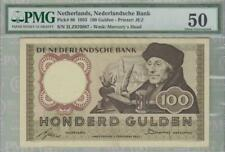 PMG 50 Netherlands 1953 Banknote 100 Gulden