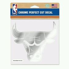 CHICAGO BULLS PERFECT CUT CHROME DECAL 6x6 FREE SHIPPING