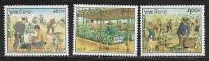 Laos 1049-51 Arbor Day Mint NH