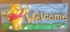 Disney Winnie the Pooh Welcome Sign Resin by Henri Studio Indoor/Outdoor Nib