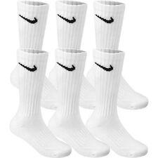 NIKE 6-PAIR WHITE Shoe Size L 8-12 Men's SPORTS ATHLETIC CUSHION CREW Socks SALE