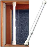 NEW (Set/12) Window Security Bar Locks Onto Frame- Sturdy Steel Adjusts 17-29 in