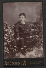 Andrews, 108 Senhouse Street, Maryport. Young boy   antique cabinet photo ac.5