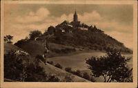 Leuchtenburg bei Kahla Thüringen DDR alte AK 1960 gelaufen vom Dohlenstein aus
