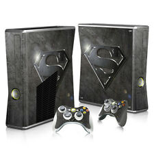 Xbox 360 Slim Console Skin Decal Sticker Superman SuperHero Custom Design Set