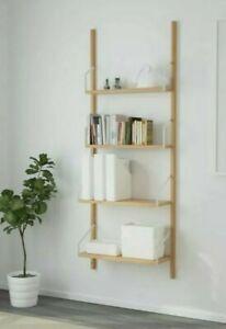 4 x IKEA SVALNAS Bamboo Shelf Shelves 81cm x 25 cm NEW RRP £100