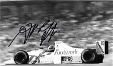 Alex CAFFI firmato movimento dei piedi-Cosworth FA12, GERMAN GP, originale stampa foto 1991