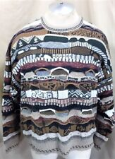 Vintage 90's Florence Tricot (Large) Textured Cosby Style Multi-Color Sweater