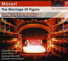 CARLO MARIA GIULINI - THE MARRIAGE OF FIGARO 3 CD NEW+ MOZART,WOLFGANG AMADEUS