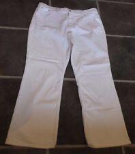 Donna Uk 20 EUR 48 M&S Marks & Spencer W38 L29 Bianco Denim Jeans