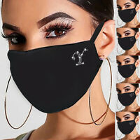 Weihnachten Mund-Maske waschbar Stoffmaske wiederverwendbar Schwarz ✅