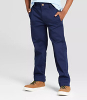 Boys/' Flat Front Uniform Dress Chino Pants Cat /& Jack Navy Blue Sz 16 H NWT $19