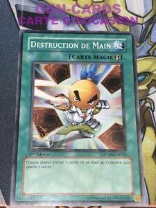OCCASION Carte Yu Gi Oh DESTRUCTION DE MAIN SDMM-FR028 1ère édition