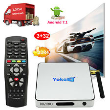 2018 3+32GB DDR4 Android 7.1 Nougat S912 Octa Core Smart TV BOX Dual Wifi Movies