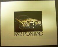 1972 Pontiac Sales Brochure Grand Prix Catalina LeMans GTO Firebird Trans Am 72